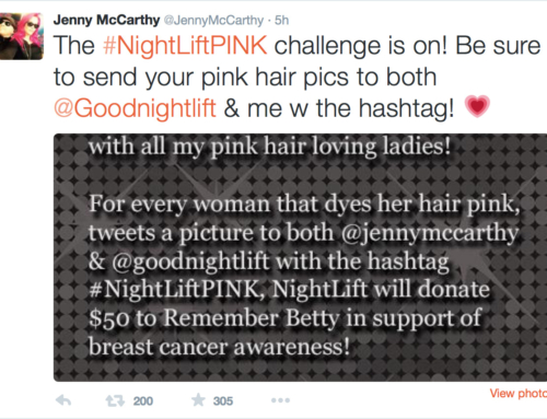 Nightlift: The #NightLiftPINK Challenge with Jenny McCarthy